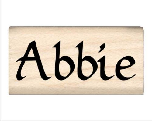 Abbie Name Rubber Stamp