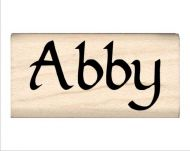 Abby Name Rubber Stamp