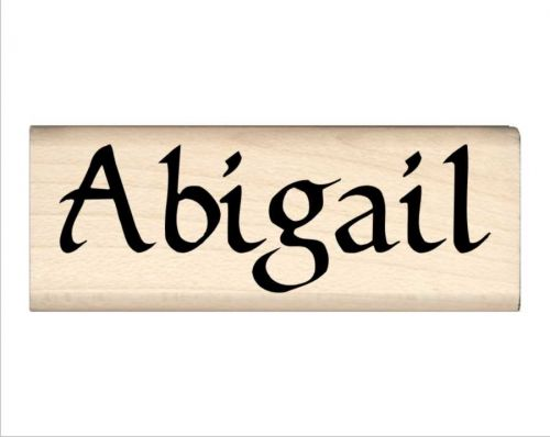 Abigail Name Rubber Stamp