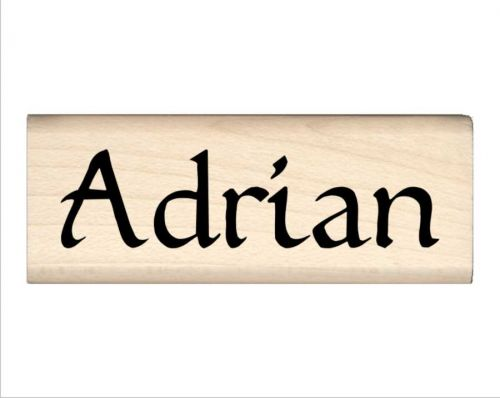 Adrian Name Rubber Stamp