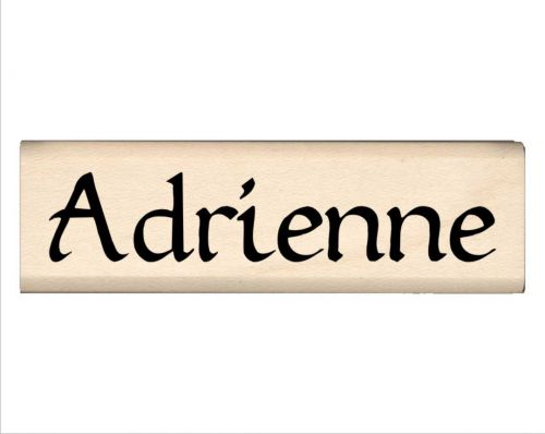 Adrienne Name Rubber Stamp