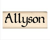 Allyson Name Rubber Stamp