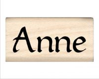 Anne Name Rubber Stamp