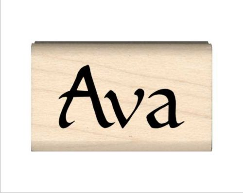 Ava Name Rubber Stamp