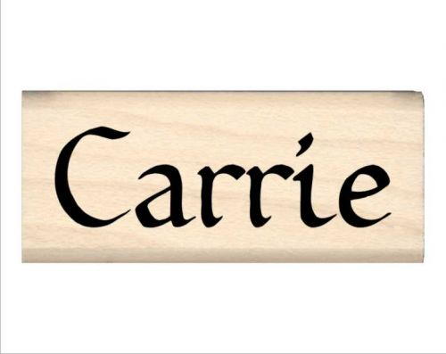 Carrie Name Rubber Stamp