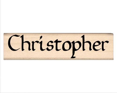 Christopher Name Rubber Stamp