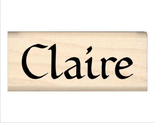 Claire Name Rubber Stamp