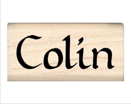 Colin Name Rubber Stamp