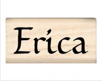 Erica Name Rubber Stamp