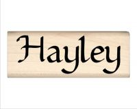 Hayley Name Rubber Stamp