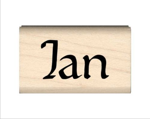 Ian Name Rubber Stamp