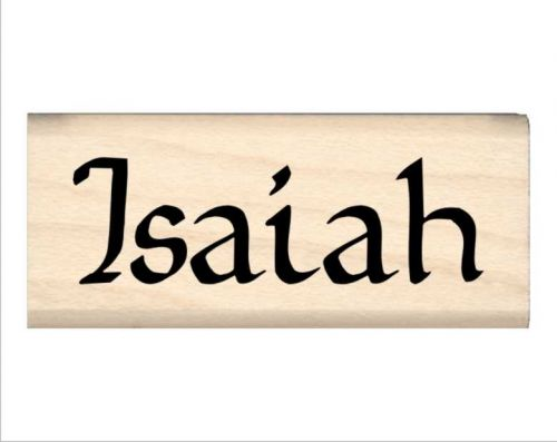 Isaiah Name Rubber Stamp