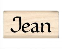 Jean Name Rubber Stamp