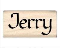 Jerry Name Rubber Stamp