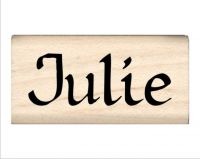 Julie Name Rubber Stamp