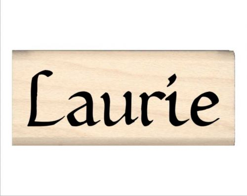 Laurie Name Rubber Stamp