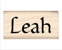 Leah Name Rubber Stamp