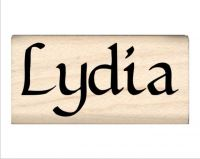 Lydia Name Rubber Stamp