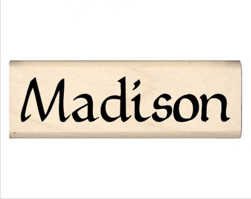 Madison Name Rubber Stamp