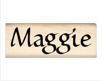 Maggie Name Rubber Stamp