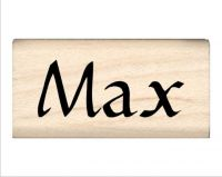 Max Name Rubber Stamp