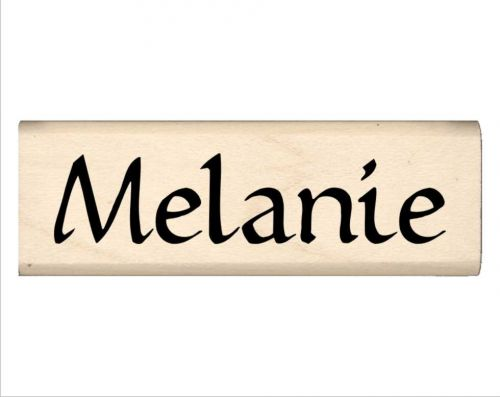 Melanie Name Rubber Stamp