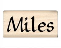 Miles Name Rubber Stamp