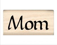 Mom Name Rubber Stamp