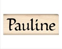 Pauline Name Rubber Stamp