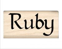 Ruby Name Rubber Stamp