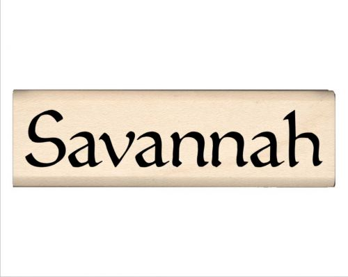 Savannah Name Rubber Stamp
