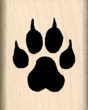 Claws Rubber Stamp