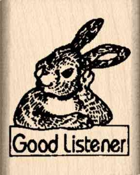 Good Listener Rubber Stamp
