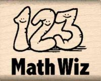 Math Wiz Teacher Rubber Stamp