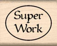 Super Work Teacher Rubber Stamp