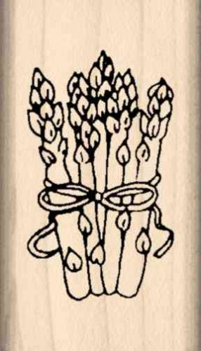Asparagus Rubber Stamp
