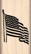 American Flag Rubber Stamp
