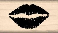 Lips Kiss Rubber Stamp