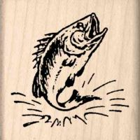 Bass Fish Rubber Stamp