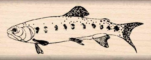 Trout Fish Rubber Stamp