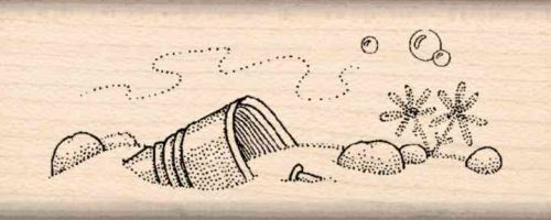 Pond Bottom Rubber Stamp