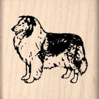 Collie Rubber Stamp