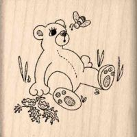 Bear/Bee Rubber Stamp