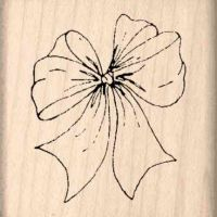 Bow Rubber Stamp