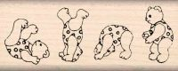 Tumbling Bears Rubber Stamp