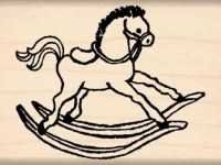 Hobby Horse Rubber Stamp