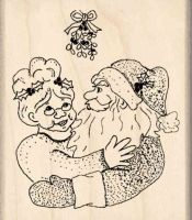 Santa & Mrs. Claus Rubber Stamp