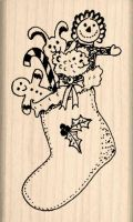Christmas Stocking Rubber Stamp