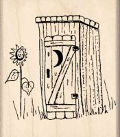 Outhouse Rubber Stamp