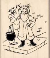 Bell Ringer Donations Collector Rubber Stamp